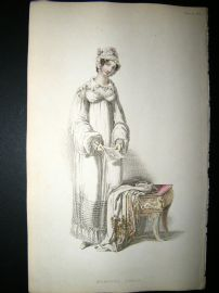 Ackermann 1816 Hand Col Regency Fashion Print. Morning Dress 1-22